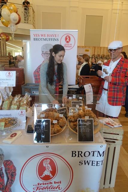 Brotmuffins in verschiedenen Geschmacksrichtungen gab es bei Fröhlich aus Steyr © f2m